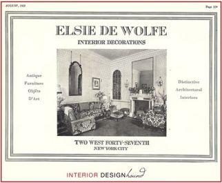 Elsie de Wolfe, tarjeta personal, 1921