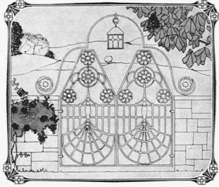 Garden gates in Idun, 1907