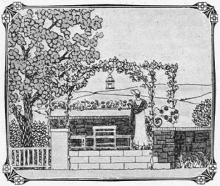 Garden wall with the terrace in Idun, 1907