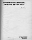 Portada Libro Planta física 1867-1987. Universidad Nacional de Colombia. Luz Amorocho. Ed. PROA. 1982.