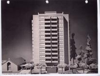 Jane Duncombe. Maqueta de Bethlehem Tower, Santa Rosa.