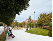 Marta Peris. Peris+Toral arquitectes. espacio verde en Badalona, Barcelona