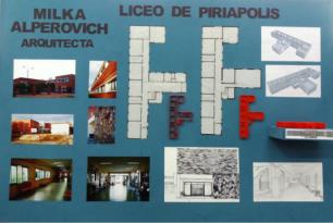 Emilia Alperovich, Liceo, Piriápolis